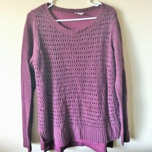 St. John's Bay Purple Sweater with undershirt